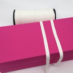 Katoenen keperband wit 10 mm