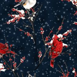 Hoffman fabrics, a winters sky