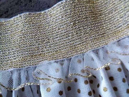 elastiek - goud - franjes